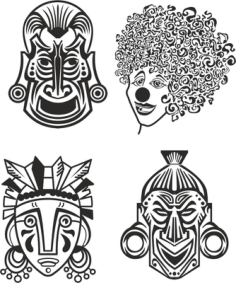 Indian Aztec African Historic Tribal Mask Vector Free Vector Cdr
