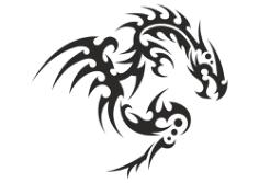 Dragon Silhouette Vector Free Vector Cdr