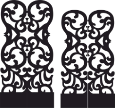 Stencil Folding Screen Vector Free Vector Cdr
