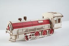 Gift wrap-lokomotive Free Vector Cdr
