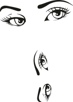 Woman Eyes Collection Vector Free Vector Cdr