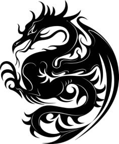 Dragon Stencil Vector Free Vector Cdr
