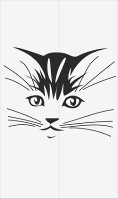 Cats Decal for Glass Vector Free Vector Cdr