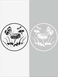 Glass Floral Sticker Decal Vector Free Vector Cdr