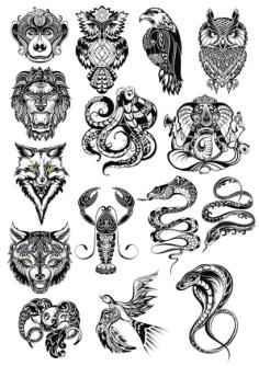 Animals Vector Art Set Free Vector Cdr