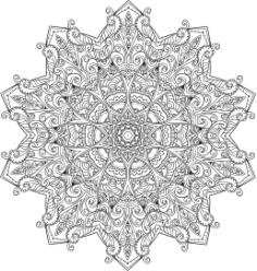 Myst Mandala Free Vector Cdr
