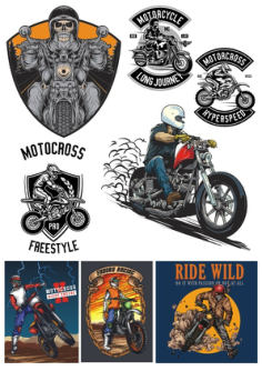 Biker Set Free Vector Cdr