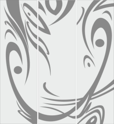 Carved sandblasted abstract design Free Vector Cdr