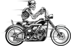 Vector Skull Motorcycle Free Vector Cdr