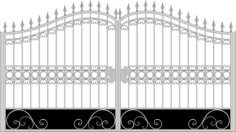 Iron Fancy Gate Boundary Wall Gate Design Free Vector Cdr