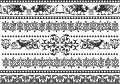 Celtic Patterns and Ornament Lace Patterns Free Vector Cdr