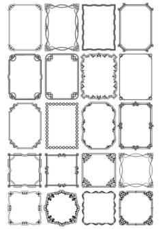 Decorative Page Border Vectors Free Vector Cdr