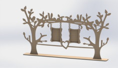 Laser Cut Tree Frame Free Vector Cdr