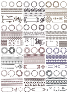 Decor Elements Set Free Vector Cdr