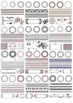 Decor Elements Set Free Vector Cdr