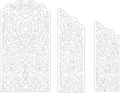 Wedding Screen Panel Free Vector Cdr