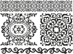 Ornament Baroc Elements Free Vector Cdr
