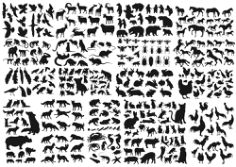 Animals Collection Vector Silhouette Free Vector Cdr