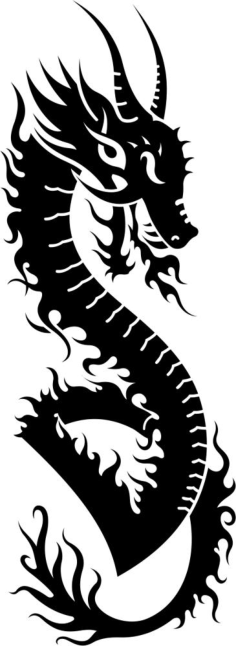 Dragon Vector Tatoo Free Vector Cdr