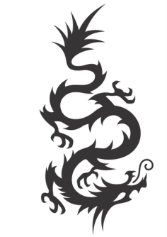 Chinese Dragon Silhouette Vector Free Vector Cdr