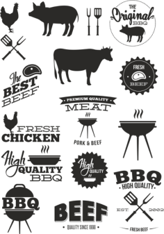 BBQ Vector Set Free Vector Cdr