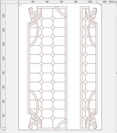 door design 15 Free Dxf for CNC