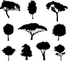 different trees Free Dxf for CNC