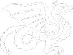 dragon 7 Free Dxf for CNC