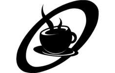 retro coffee cup Free Dxf for CNC