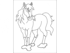 pferd (horse) Free Dxf for CNC