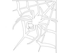 aranha na teia Free Dxf for CNC