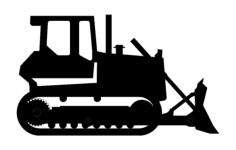 bulldozer Free Dxf for CNC