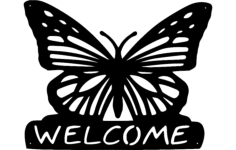 butterfly-welcome Free Dxf for CNC