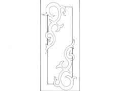 door design 4 Free Dxf for CNC