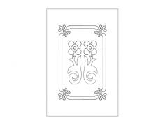 door design floral Free Dxf for CNC