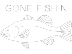 bass gone fishin final Free Dxf for CNC