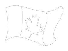 canada flag Free Dxf for CNC