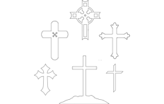 christian cross collection Free Dxf for CNC