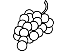 grapes Free Dxf for CNC
