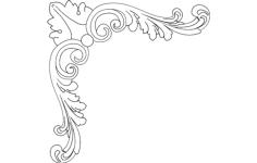 corner design 6 Free Dxf for CNC