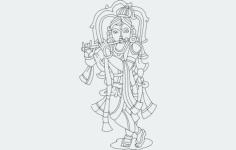 krishna Free Dxf for CNC