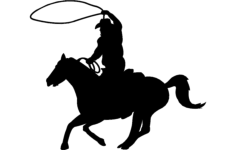 cowboy clip Free Dxf for CNC