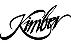 kimber gun logo Free Dxf for CNC