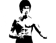 bruce lee 2 Free Dxf for CNC