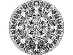 aztec sun stone vectors Free Dxf for CNC
