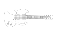 guitar opener Free Dxf for CNC