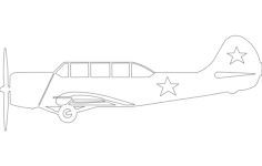 yak-52 Free Dxf for CNC
