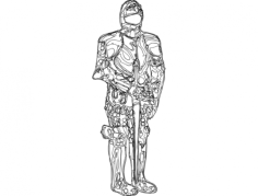 armor suit 2 Free Dxf for CNC