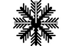 snowflake b Free Dxf for CNC