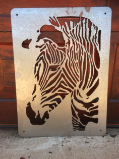 zebra laser cut Free Dxf for CNC